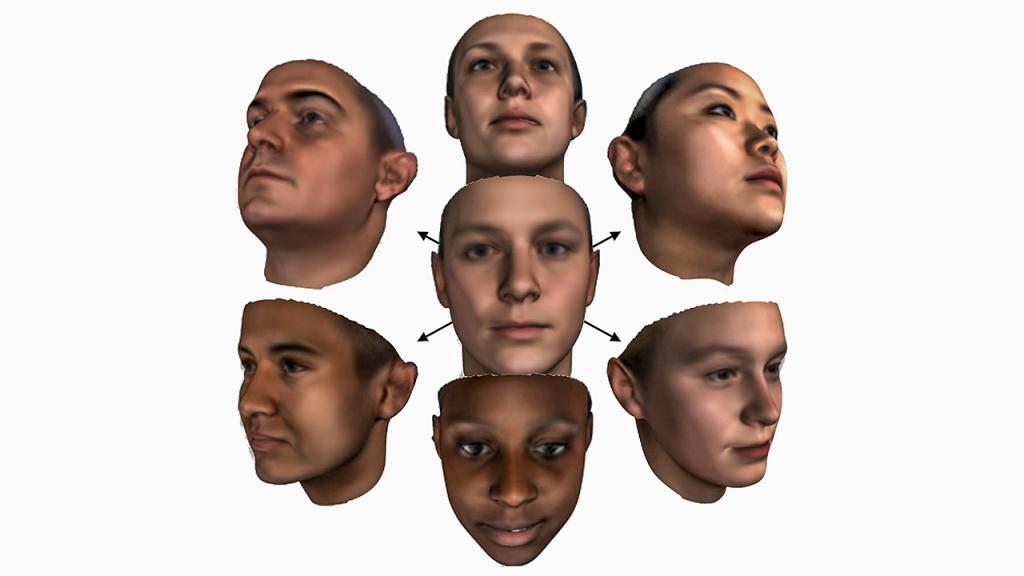 3d modelling faces