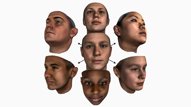 3d modelling faces